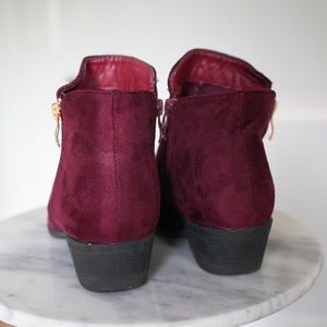 TOP Moda Shoes - Wine Ankle Booties